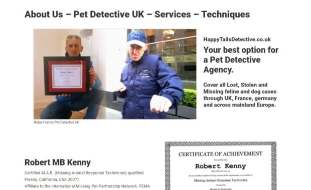 Business Website for happytailsdetective.co.uk 11