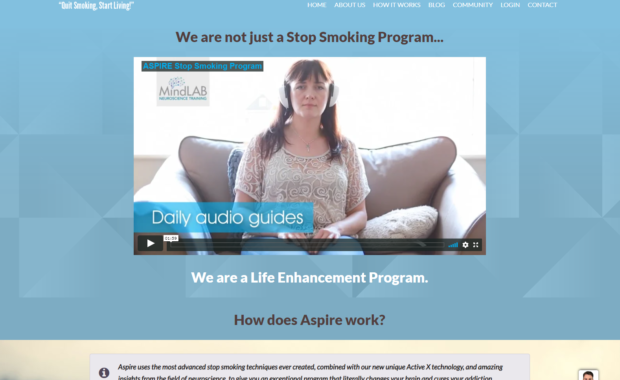 Business Membership Website for aspirestopsmoking.com 8
