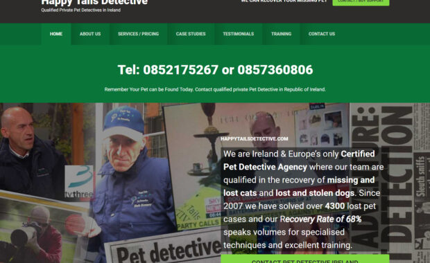 Business Website for happytailsdetective.com 4